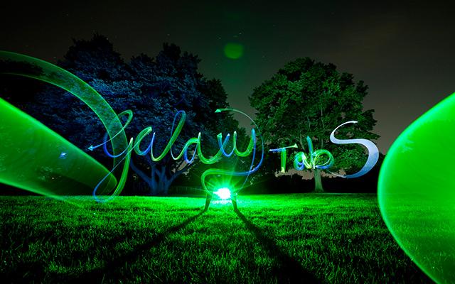 light painting mit dem Galaxy Tab S von Samsung