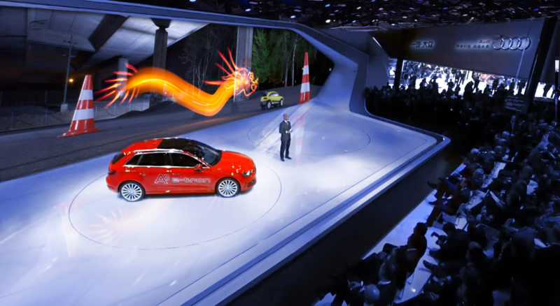 Creative Presentation For AUDI Lichtfaktor - Car light show