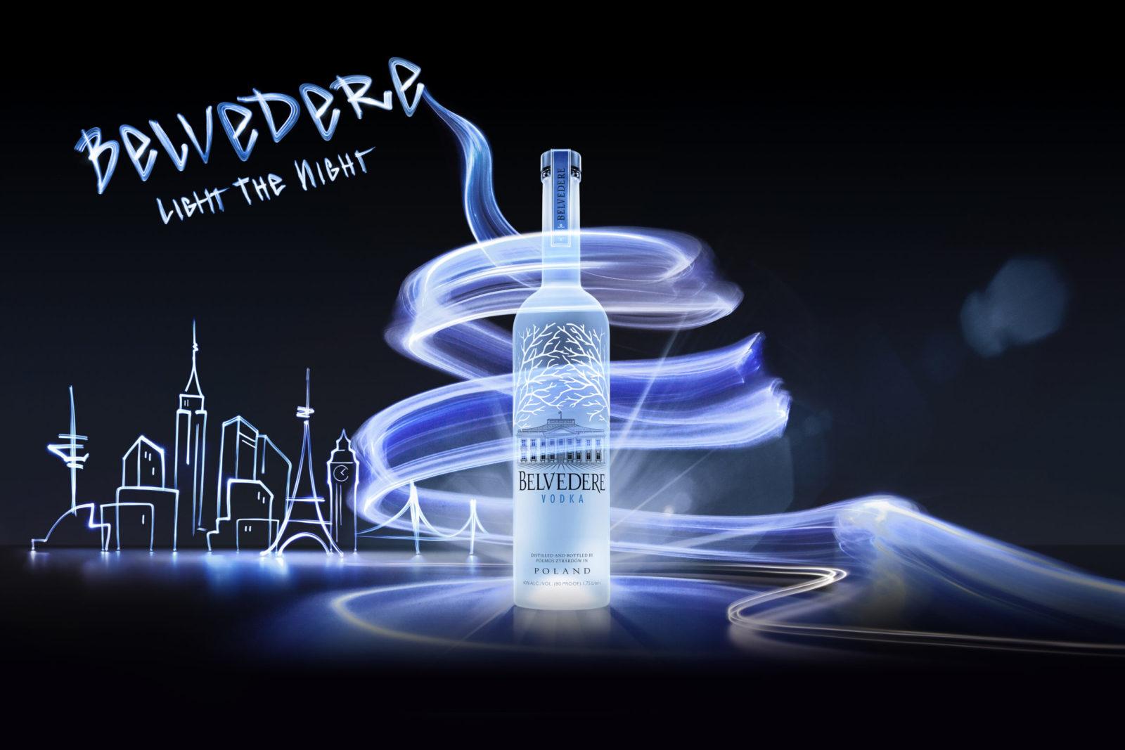 Kampagnenbild aus Licht für Belvedere Vodka